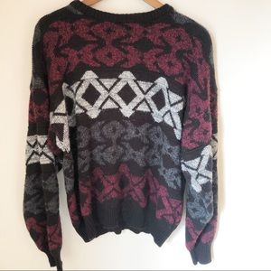 VINTAGE Multi Color Grandpa Sweater - XL
